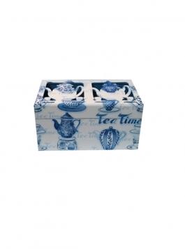 Caixa De Chá Média Azul